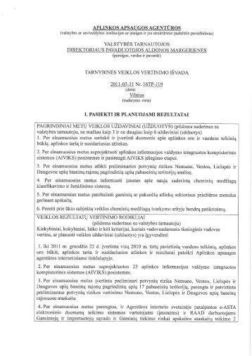 APLINKOS APSAUGOS AGENTŪROS (valstybės ar savivaldybės ...