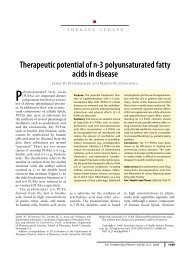 Therapeutic potential of n-3polyunsaturated fatty acids in disease