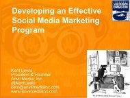 Developing an Effective Social Media Marketing Program