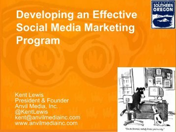 Developing an Effective Social Media Marketing Program