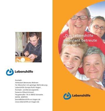 Ambulant Betreutes Wohnen (BeWo)