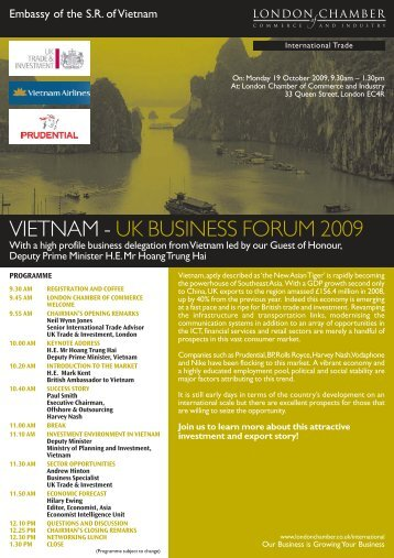 new vietnam - London Chamber of Commerce and Industry