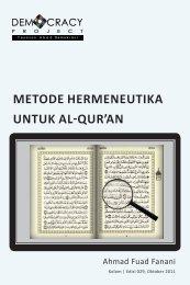 METODE HERMENEUTIKA UNTUK AL-QUR'AN - Democracy Project