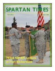 Spartan Times Vol 1 - The USARAK Home Page - U.S. Army