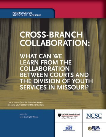 CROSS-BRANCH COLLABORATION: - State Justice Institute