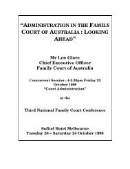Open PDF - Administration in the Family Court of Australia looking ...