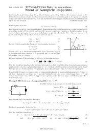 Notat 5: Kompleks impedans