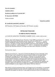 Cour de cassation chambre civile 3 Audience publique du 12 janvier ...
