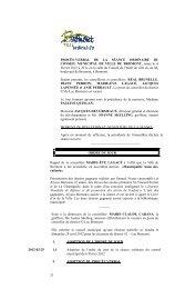 21 PROCÈS-VERBAL DE LA SÉANCE ... - Ville de Bromont
