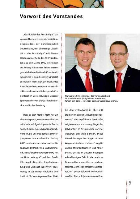 Vorwort unseres Vorstandes - Sparkasse Neunkirchen