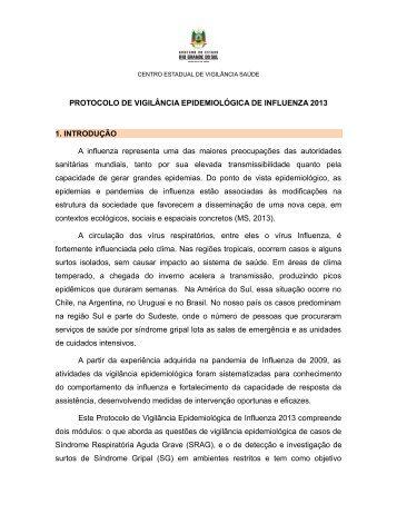 Protocolo de vigilância epidemiológica de Influenza 2013