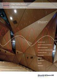 FeinMikro - Die hohe Kunst der Kompetenz - Akustik & Raum AG