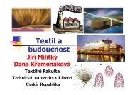 textil a budoucnost - Fakulta textilní - Technická univerzita v Liberci