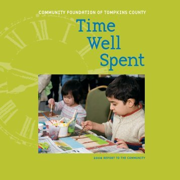 2008 Annual Report - Community Foundation of Tompkins County