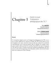 Chapitre 5 - Thierry Karsenti - Université de Montréal