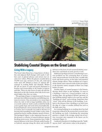 Stabilizing Coastal Slopes on the Great Lakes - Aquatic Sciences ...