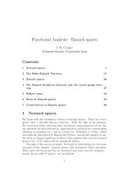 Functional Analysis—Banach spaces - Dynamics-approx.jku.at