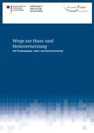 Wege zur Haus- und Heimvernetzung - Post und Telekommunikation