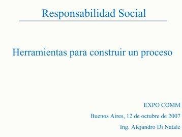 Alejandro Di Natale - Gerente de Desarrollo ... - CICOMRA