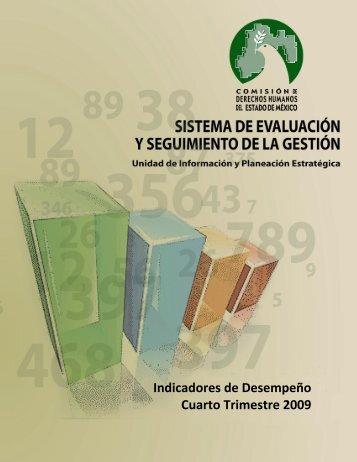 Indicadores de Desempeño Cuarto Trimestre 2009 - codhem