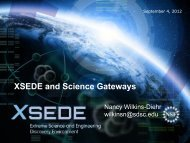 XSEDE and Science Gateways