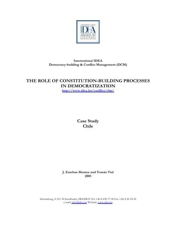 The Role of Constitution-Building Processes - TBMM Yeni Anayasa ...