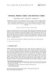 optimal prefix codes and huffman codes - City University of Hong Kong