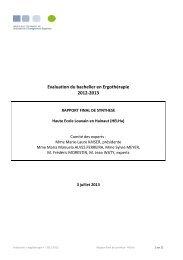 Evaluation des cursus « Bachelier en marketing » - Agence pour l ...