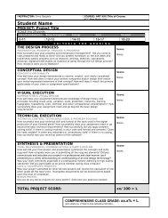 Grade Sheet - KCC New Media Arts