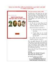 báo cáo thường niên ngành hàng gạo việt nam 2007 và triển vọng ...