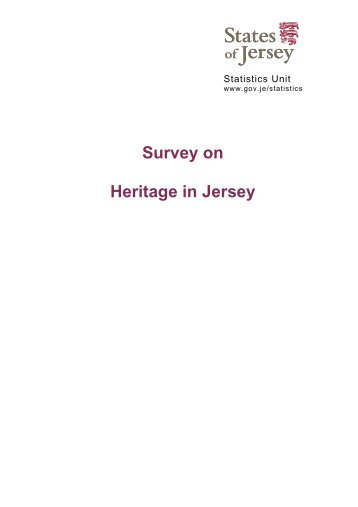 Survey On Heritage in Jersey (193 kb) - States of Jersey