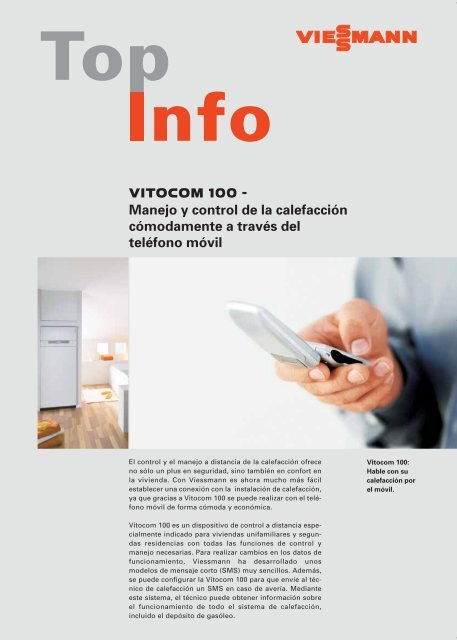 VITOCOM 100 - Manejo y control de la calefacción ... - Viessmann