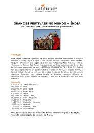 GRANDES FESTIVAIS NO MUNDO – ÍNDIA - LCC Website