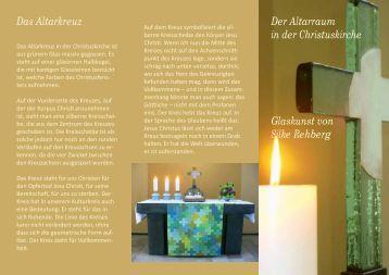 Der Altarraum in der Christuskirche Glaskunst von Silke Rehberg ...