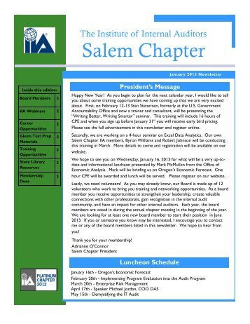 Jan_2013_iia_newsletter - The Institute of Internal Auditors