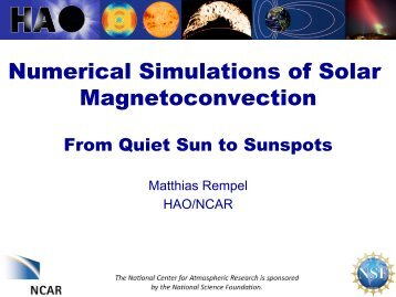 Numerical Simulations of Solar Magneto-Convection