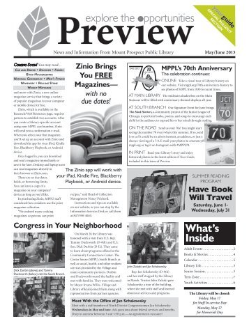 Preview-5-6-2013 - Mount Prospect Public Library