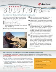 Quick and Easy Heating System Maintenance Checklist - Xcel Energy