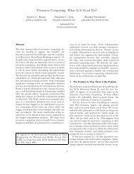 Pervasive Computing: What Is It Good For? - CiteSeerX