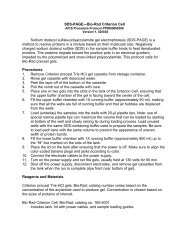 SDS-PAGE—Bio-Rad Criterion Cell Sodium dodecyl sulfate ... - AfCS