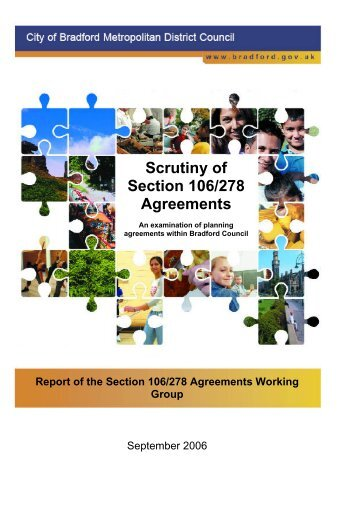 Scrutiny of Section 106/278 Agreements - Centre for Public Scrutiny
