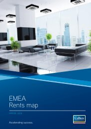 EMEA Rents map - Colliers International Zurich