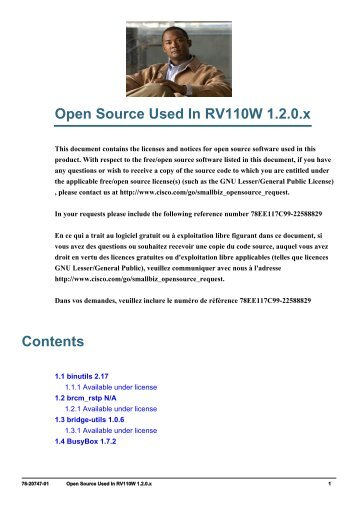 Open Source Used in RV110W Version 1.2.0.x - Cisco Systems, Inc