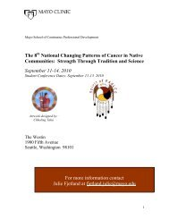 CPD 8th Patterns of Cancer Native Communities: Strength ...