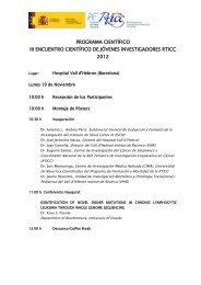 programa científico iii encuentro científico de jóvenes investigadores ...