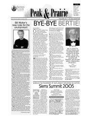 July/August/Sep 2005 (pdf) - Sierra Club Rocky Mountain Chapter