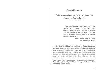 Rudolf Hermann Gehorsam und ewiges Leben im Sinne des ...