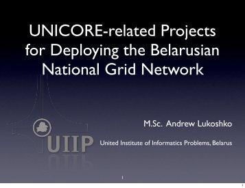 M.Sc. Andrew Lukoshko - Unicore
