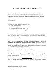 pravila izrade seminarskog rada - Početna stranica Fakulteta za ...