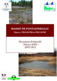 MASSIF DE FONTAINEBLEAU Document d'objectifs ... - Webissimo